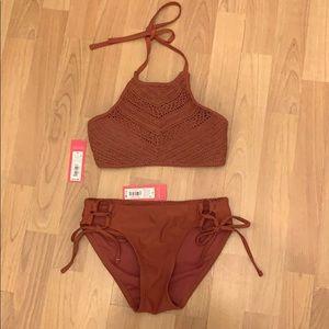 Beautiful terra-cotta bikini new with tags